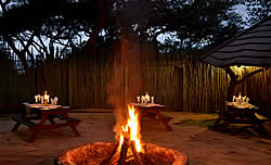 Bush wedding venue at Bundu Lodge
