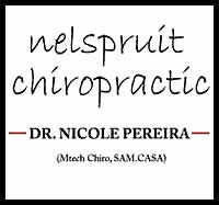 Chiropractors in Neslpruit, Neuromusculoskeletal disorder treatment and care, Mpumalanga, Dr. Nicole Pereira