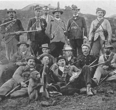 General Ben Viljoen and staff headquartered at Pilgrims Rest during the guerrilla stage of the Anglo Boer War