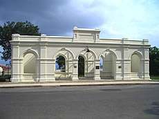 The facade of the Stock Exchange Building is now a national monument in Barberton Mpumalanga photo by L-J Havemann